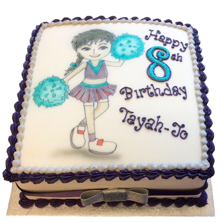 Cheerleader Birthday Cake Flecks Cakes