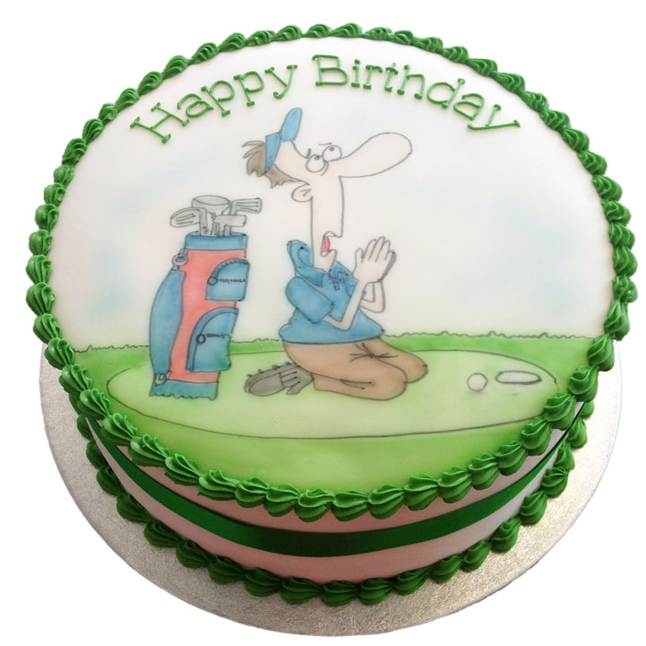 Golfer Birthday Cake - Flecks Cakes