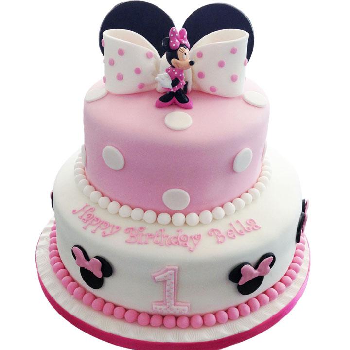 Minnie Mouse Birthday Cake.Minnie Mouse Birthday Cake