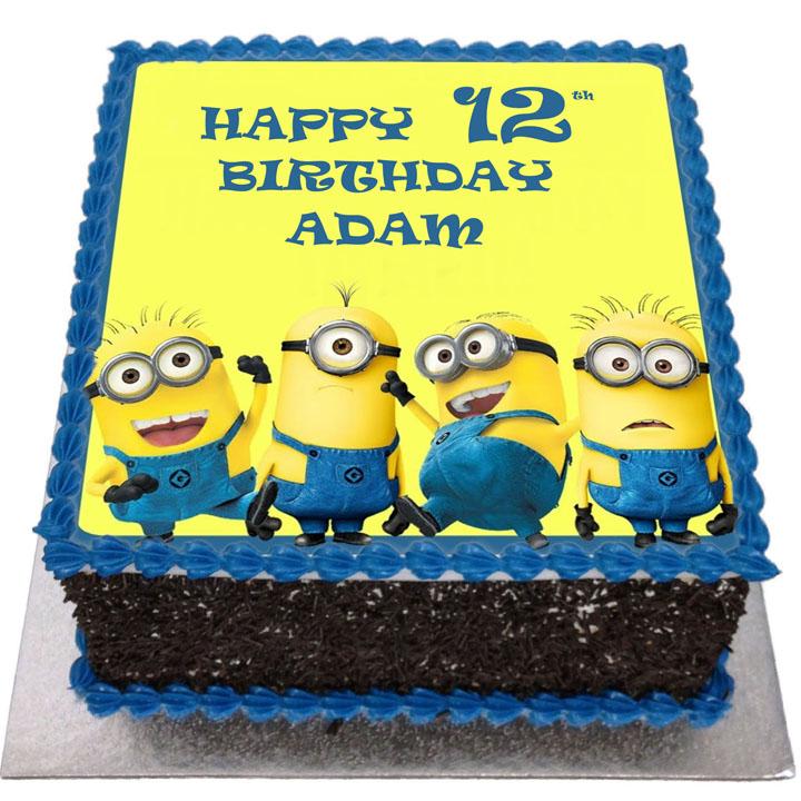 Astonishing Minions Birthday Cake Flecks Cakes Funny Birthday Cards Online Fluifree Goldxyz