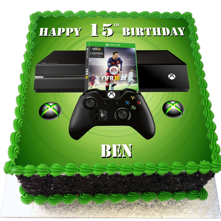 Xbox and Fifa 16 Birthday Cake Flecks Cakes