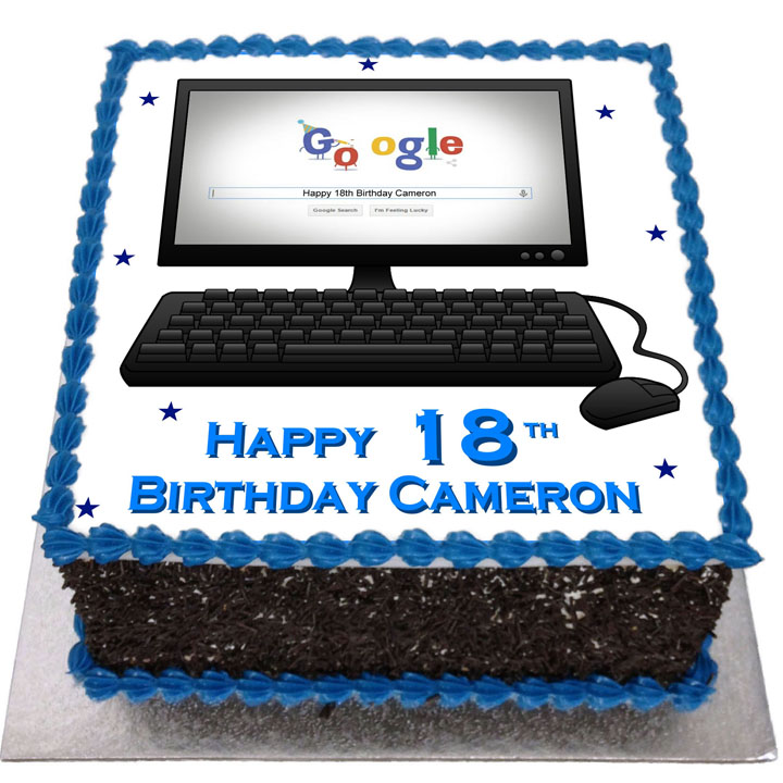 Sensational Computer Birthday Cake Flecks Cakes Funny Birthday Cards Online Amentibdeldamsfinfo