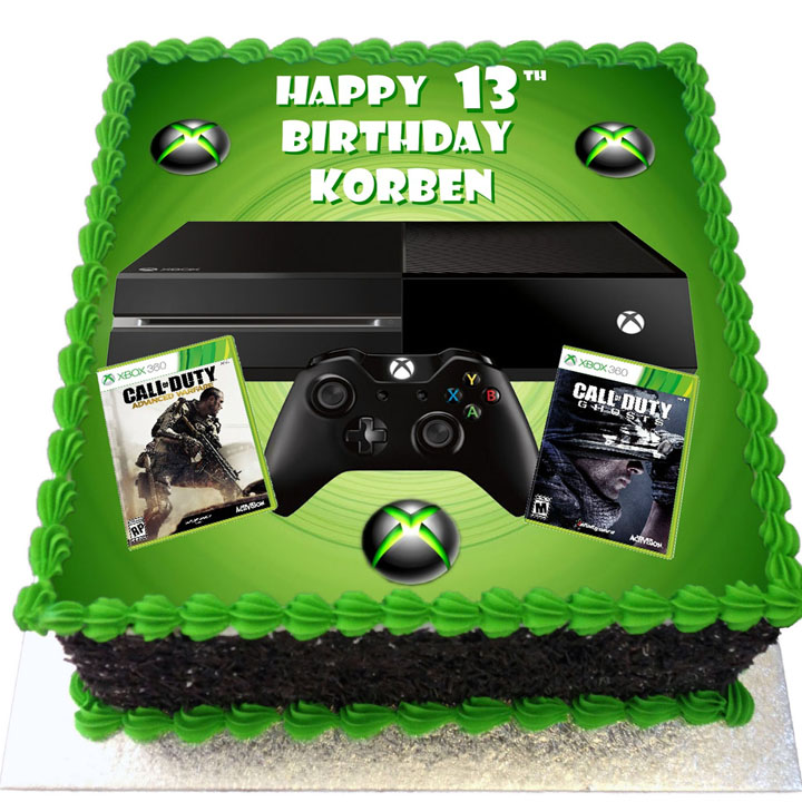 Xbox And Call Of Duty Birthday Cake