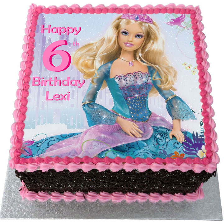 Terrific Barbie Birthday Cake Flecks Cakes Funny Birthday Cards Online Alyptdamsfinfo