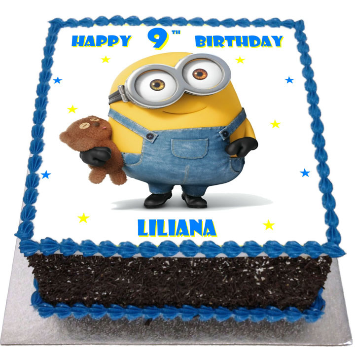 Minion Bob Birthday Cake Flecks Cakes