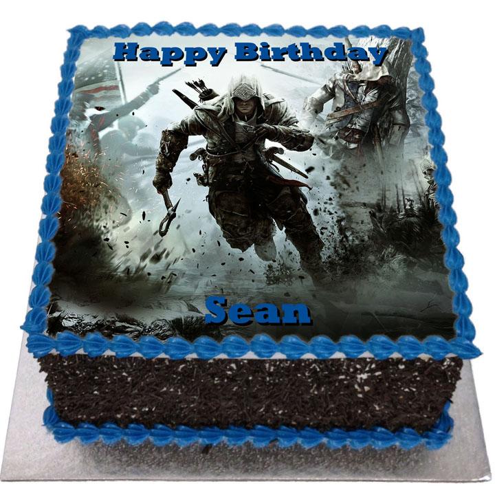 Assassins Creed Birthday Cake Flecks Cakes