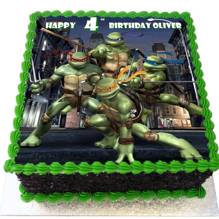 Teenage Mutant Ninja Turtles Birthday Cake Flecks Cakes