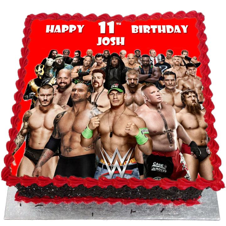 Miraculous Wwe Wrestlers Birthday Cake Flecks Cakes Funny Birthday Cards Online Inifodamsfinfo