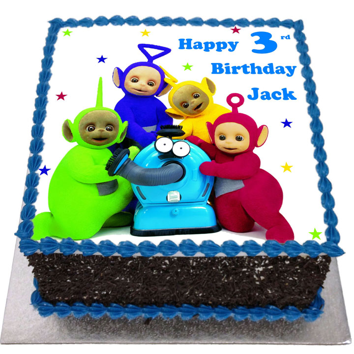 Fine Teletubbies Birthday Cake Flecks Cakes Birthday Cards Printable Nowaargucafe Filternl