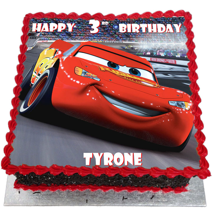 Marvelous Lightning Mcqueen Birthday Cake Flecks Cakes Personalised Birthday Cards Cominlily Jamesorg