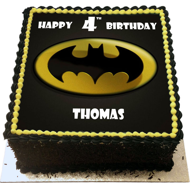Miraculous Batman Birthday Cake Flecks Cakes Personalised Birthday Cards Veneteletsinfo