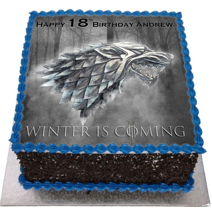Marvelous Game Of Thrones Birthday Cake Flecks Cakes Personalised Birthday Cards Cominlily Jamesorg