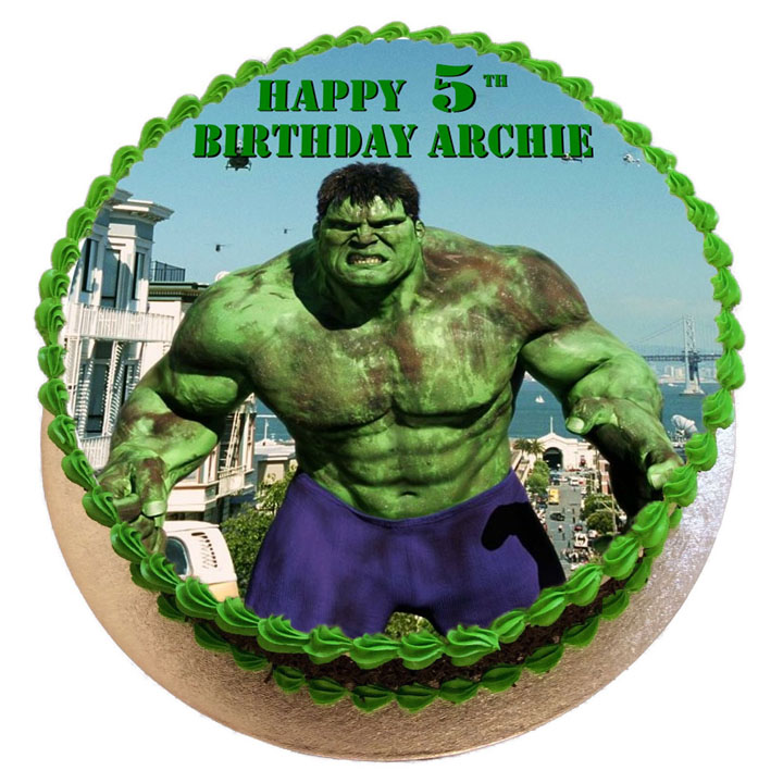 Astonishing Hulk Birthday Cake Flecks Cakes Funny Birthday Cards Online Elaedamsfinfo