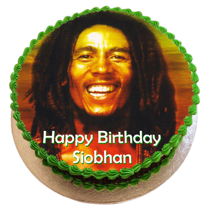 Astonishing Bob Marley Birthday Cake Flecks Cakes Personalised Birthday Cards Veneteletsinfo