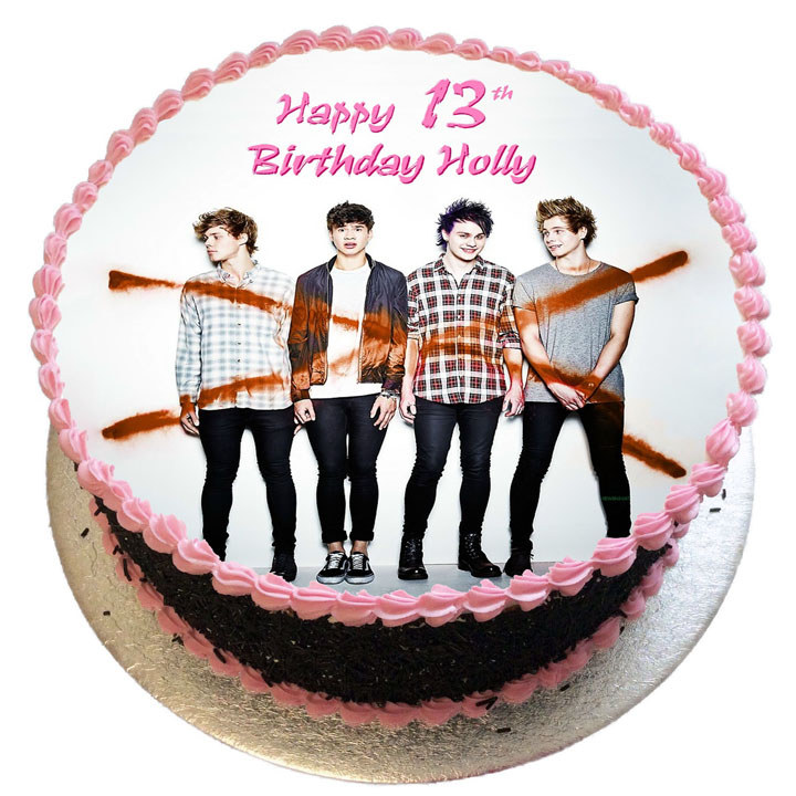 Swell 5 Seconds Of Summer Birthday Cake Flecks Cakes Personalised Birthday Cards Cominlily Jamesorg