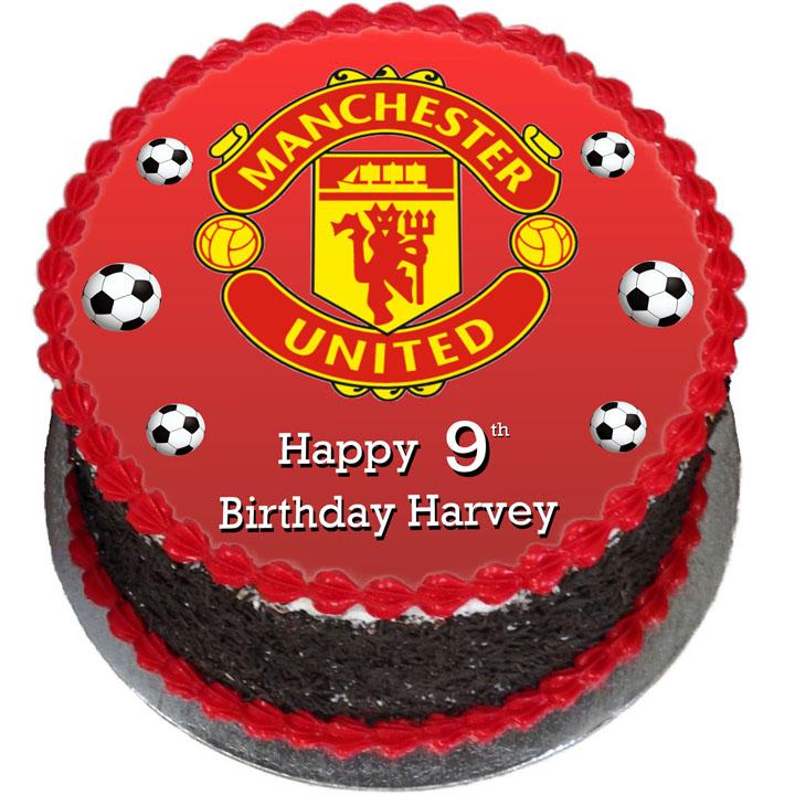 Sensational Man United Cakes Flecks Cakes Birthday Cards Printable Nowaargucafe Filternl