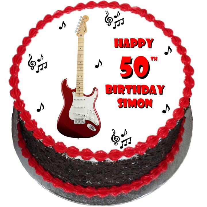 Remarkable Guitar Birthday Cake Flecks Cakes Funny Birthday Cards Online Alyptdamsfinfo
