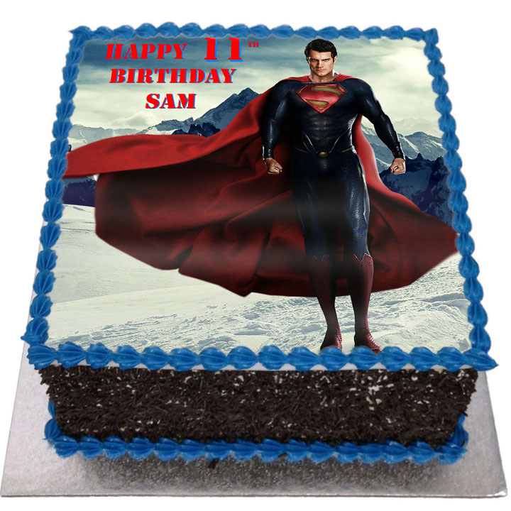 Astounding Superman Birthday Cake Flecks Cakes Funny Birthday Cards Online Bapapcheapnameinfo