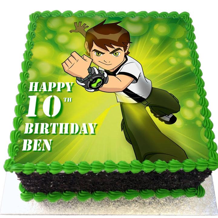 Ben 10 Birthday Cake Flecks Cakes