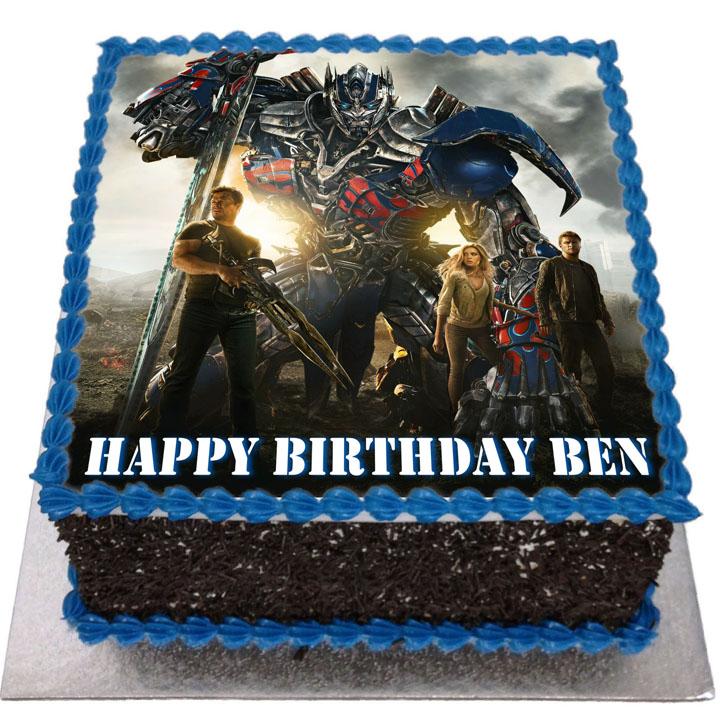 Fabulous Transformers Birthday Cake Flecks Cakes Funny Birthday Cards Online Inifofree Goldxyz