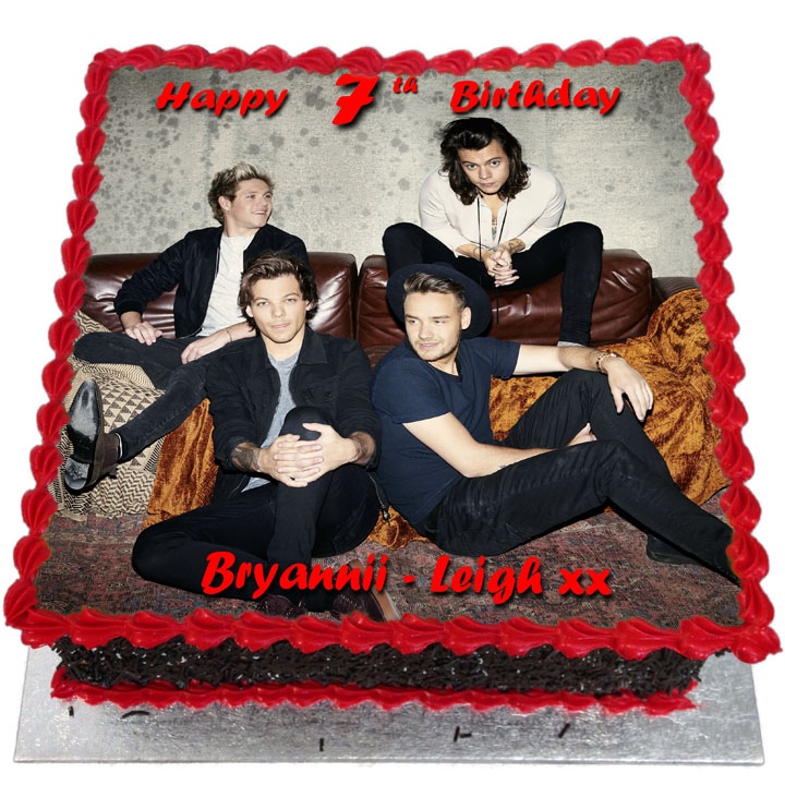 Fabulous One Direction Birthday Cake Flecks Cakes Funny Birthday Cards Online Elaedamsfinfo