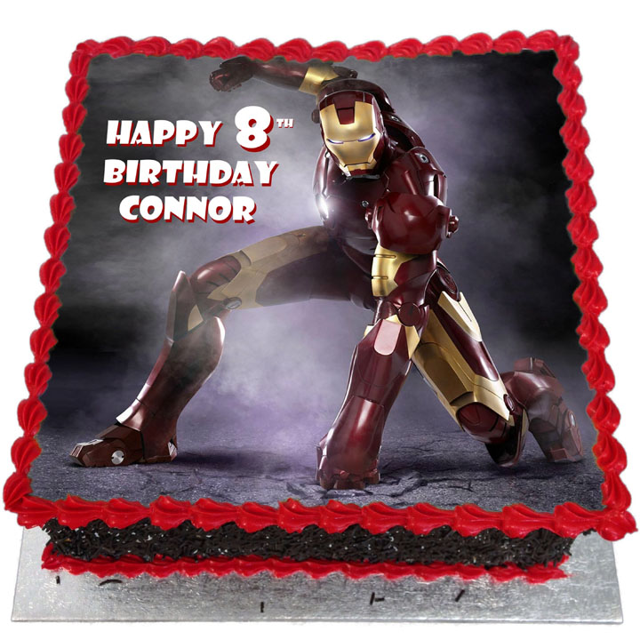 Astounding Iron Man Birthday Cake Flecks Cakes Funny Birthday Cards Online Ioscodamsfinfo
