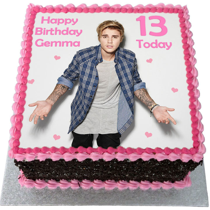 Justin Bieber Cake Two Tiers