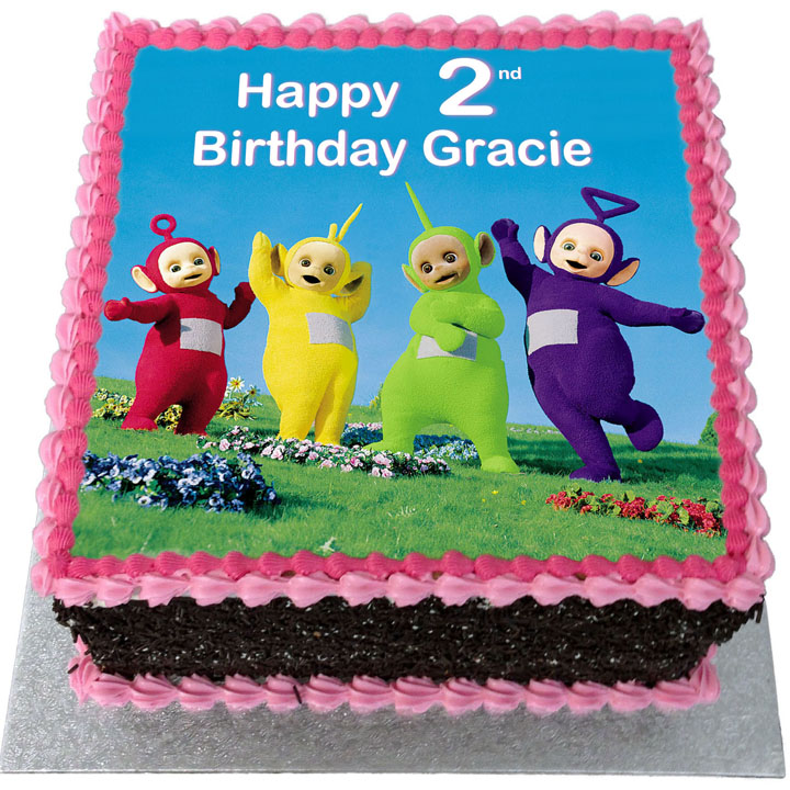 Pleasing Teletubbies Birthday Cake Flecks Cakes Birthday Cards Printable Nowaargucafe Filternl