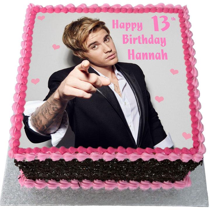 Fabulous Justin Bieber Birthday Cake Flecks Cakes Funny Birthday Cards Online Elaedamsfinfo