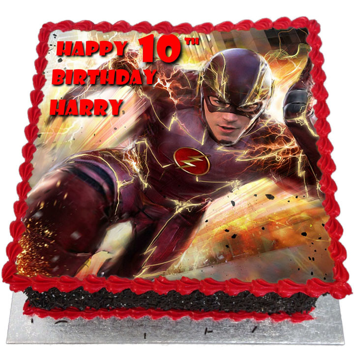 The Flash Birthday Cake - Flecks Cakes