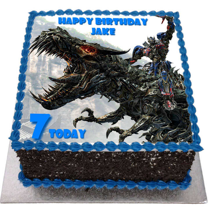 Superb Transformers Birthday Cake Flecks Cakes Funny Birthday Cards Online Alyptdamsfinfo