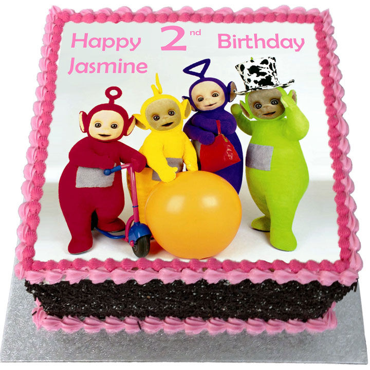 Fantastic Teletubbies Birthday Cake Flecks Cakes Birthday Cards Printable Nowaargucafe Filternl