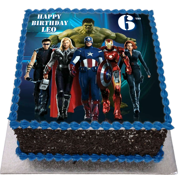 Avengers Birthday Cake Flecks Cakes