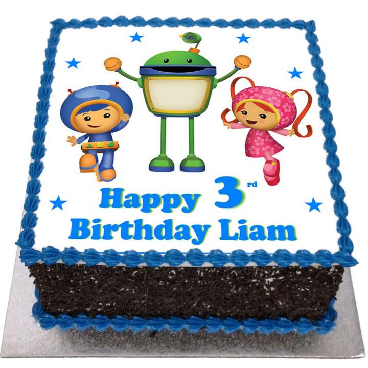 Pleasant Team Umizoomi Birthday Cake Flecks Cakes Personalised Birthday Cards Arneslily Jamesorg