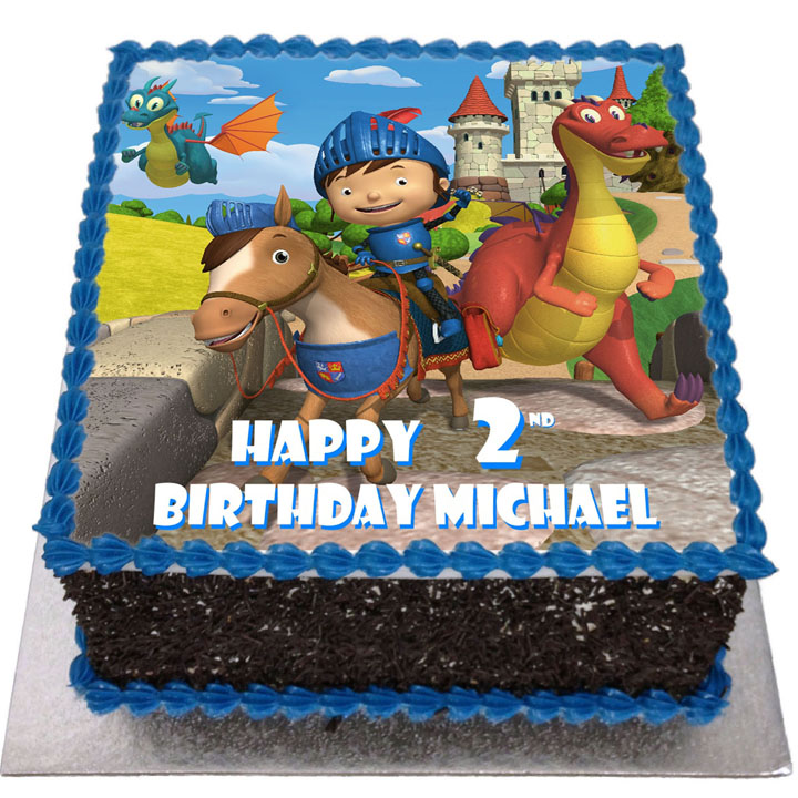 Magnificent Mike The Knight Birthday Cake Flecks Cakes Funny Birthday Cards Online Eattedamsfinfo