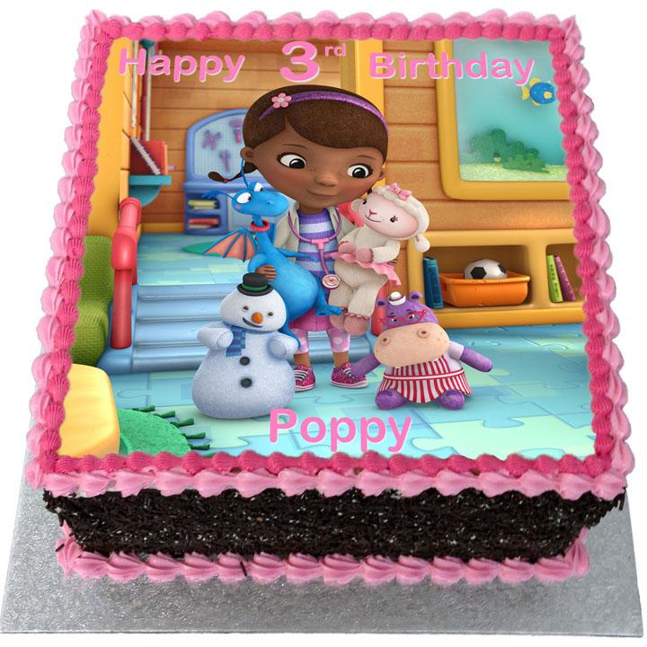 Swell Doc Mcstuffins Birthday Cake Flecks Cakes Personalised Birthday Cards Beptaeletsinfo