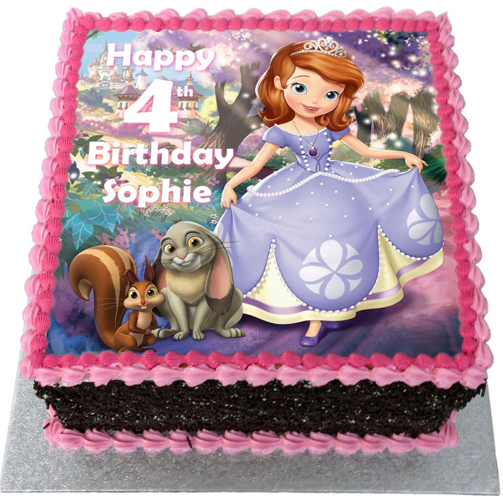 Superb Sofia The First Birthday Cake Flecks Cakes Birthday Cards Printable Benkemecafe Filternl