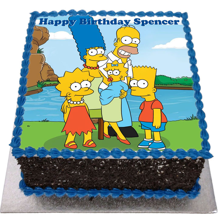 Admirable The Simpsons Birthday Cake Flecks Cakes Funny Birthday Cards Online Alyptdamsfinfo