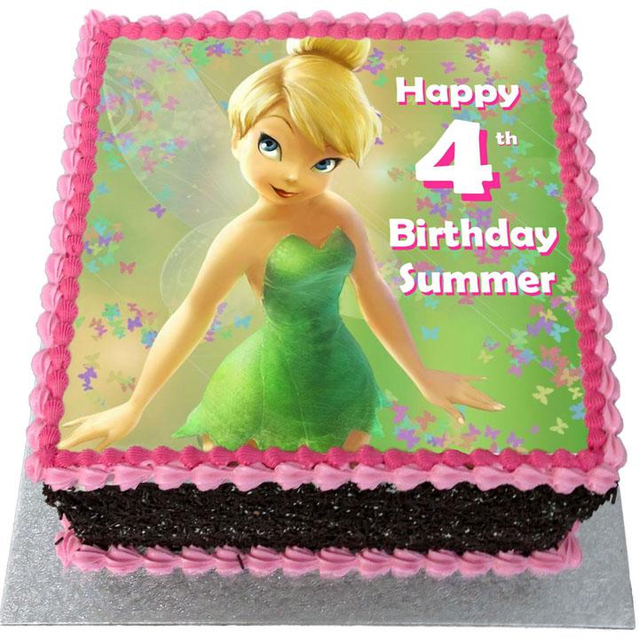 Fabulous Tinkerbell Birthday Cake Flecks Cakes Personalised Birthday Cards Paralily Jamesorg