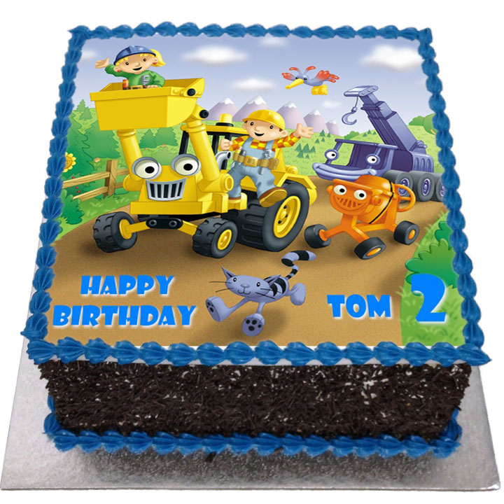 Surprising Bob The Builder Birthday Cake Flecks Cakes Funny Birthday Cards Online Elaedamsfinfo