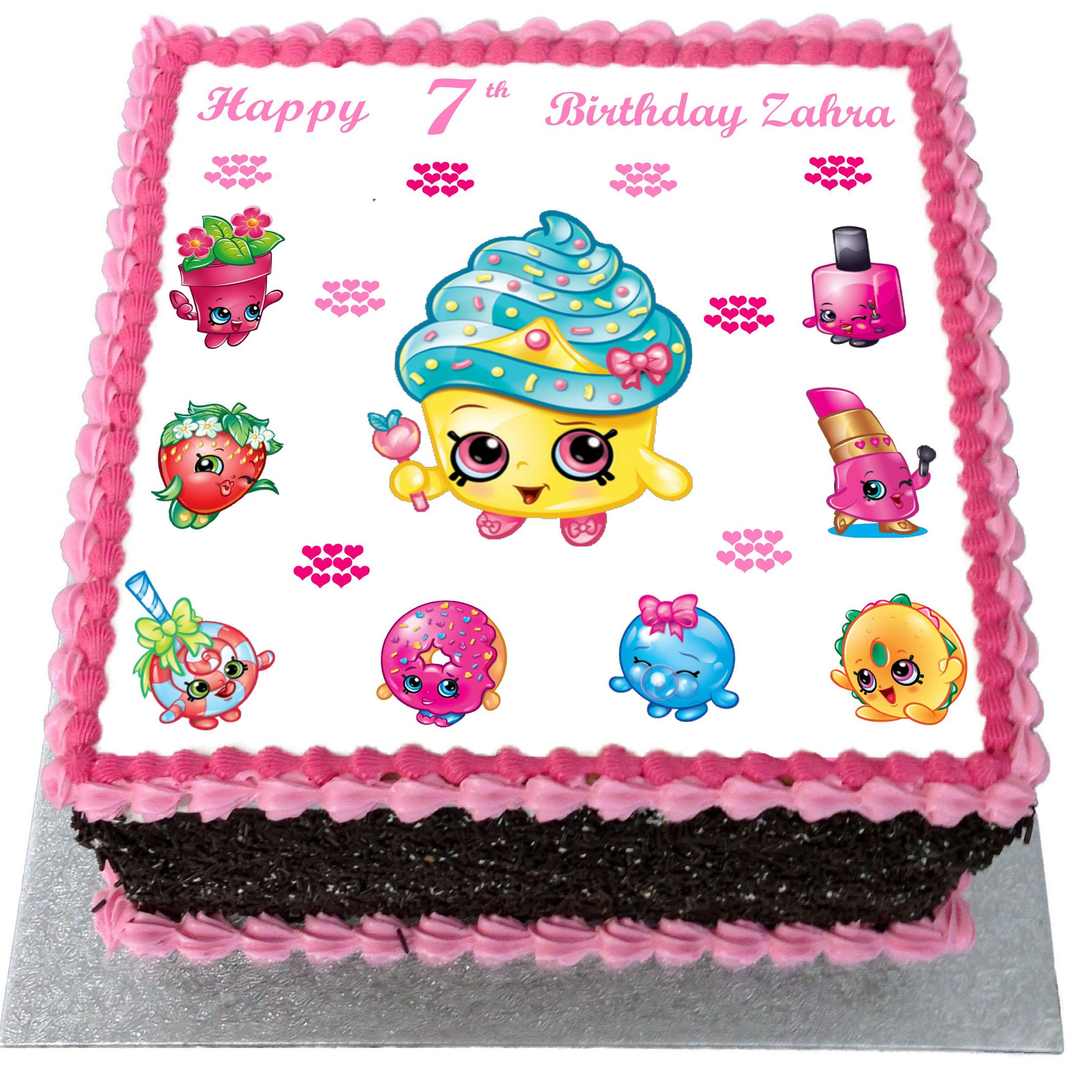 Pleasing Shopkins Birthday Cake Flecks Cakes Personalised Birthday Cards Paralily Jamesorg