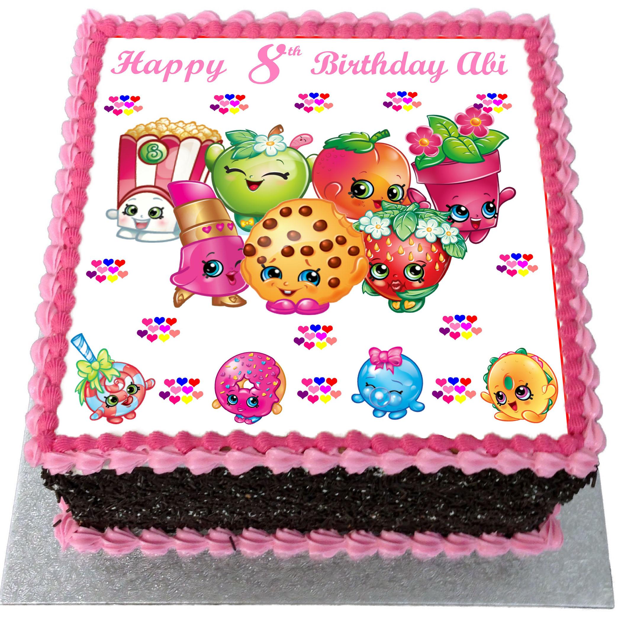 Amazing Shopkins Birthday Cake Flecks Cakes Funny Birthday Cards Online Eattedamsfinfo