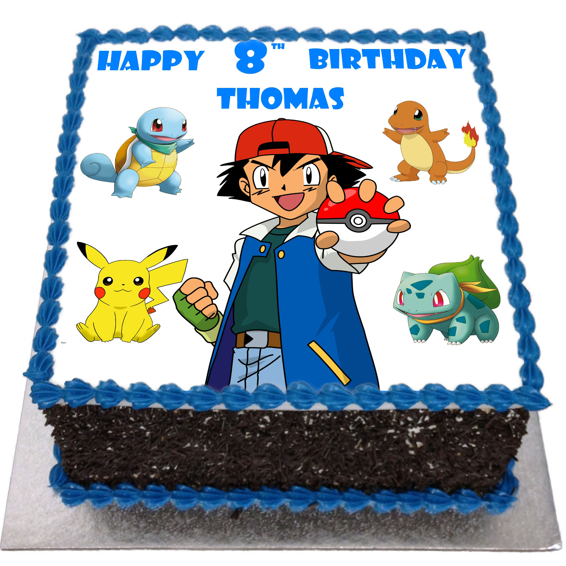 Awesome Pokemon Birthday Cake Flecks Cakes Personalised Birthday Cards Bromeletsinfo