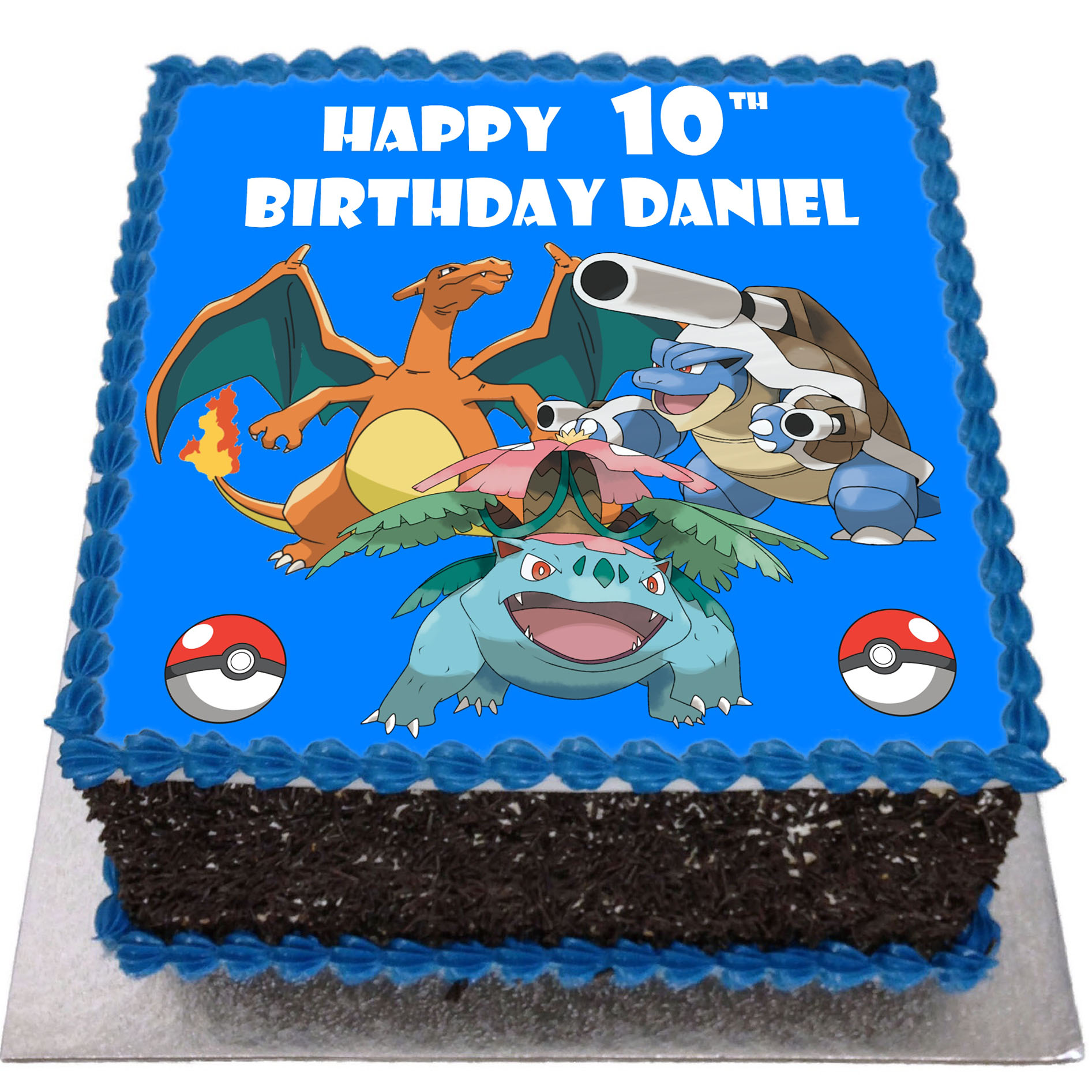 Prime Pokemon Birthday Cake Flecks Cakes Personalised Birthday Cards Bromeletsinfo