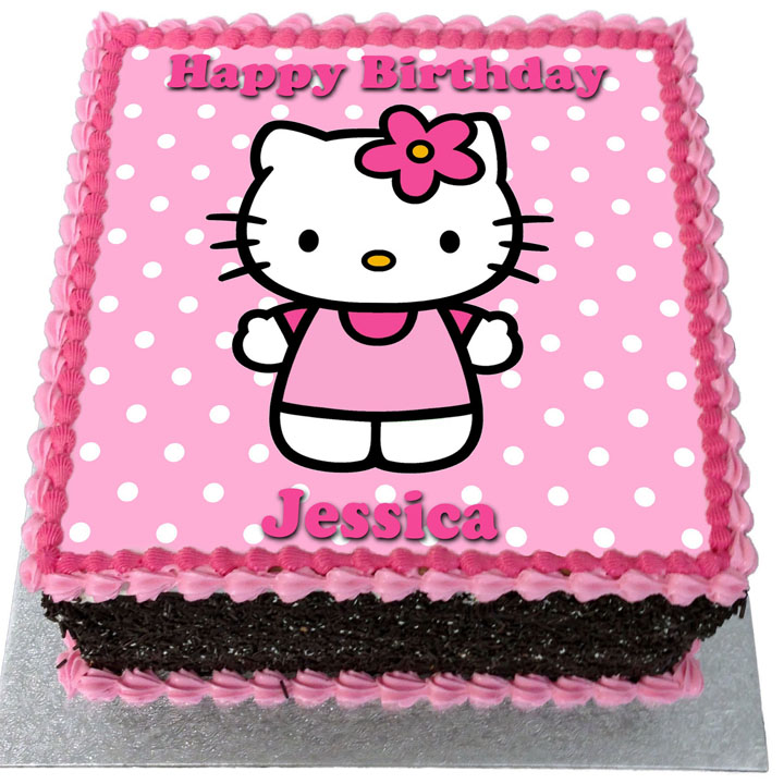 Fabulous Hello Kitty Birthday Cake Flecks Cakes Personalised Birthday Cards Paralily Jamesorg