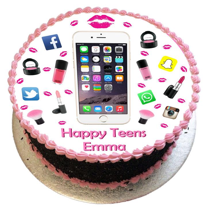Iphone Make Up Birthday Cake Flecks Cakes