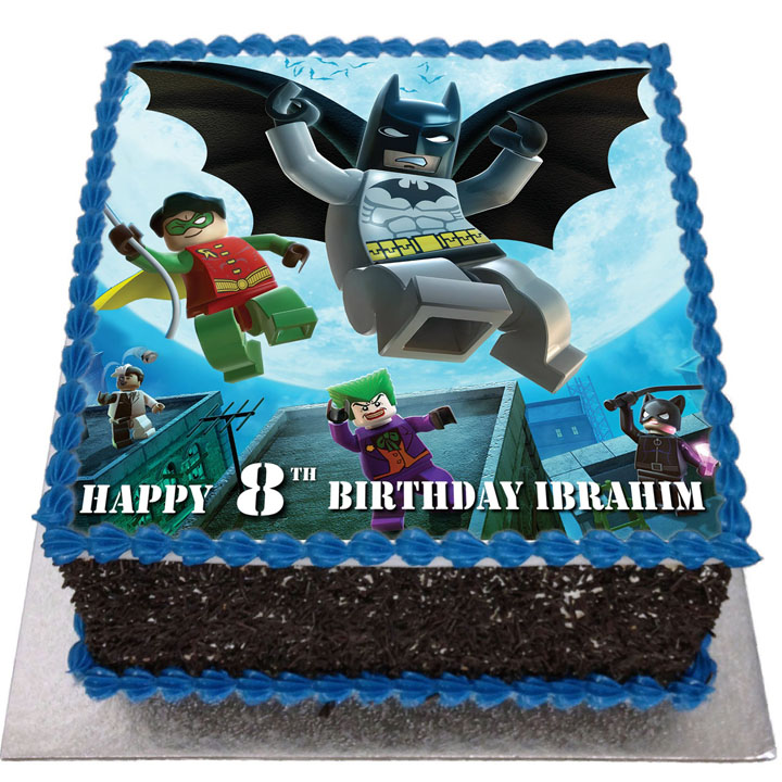 Awesome Lego Batman Birthday Cake Flecks Cakes Personalised Birthday Cards Akebfashionlily Jamesorg