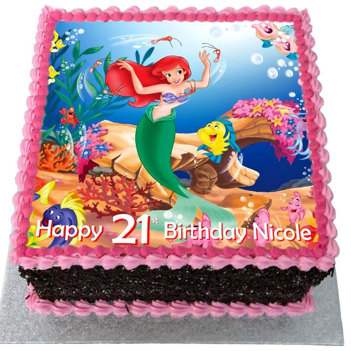 Magnificent The Little Mermaid Birthday Cake Flecks Cakes Funny Birthday Cards Online Elaedamsfinfo