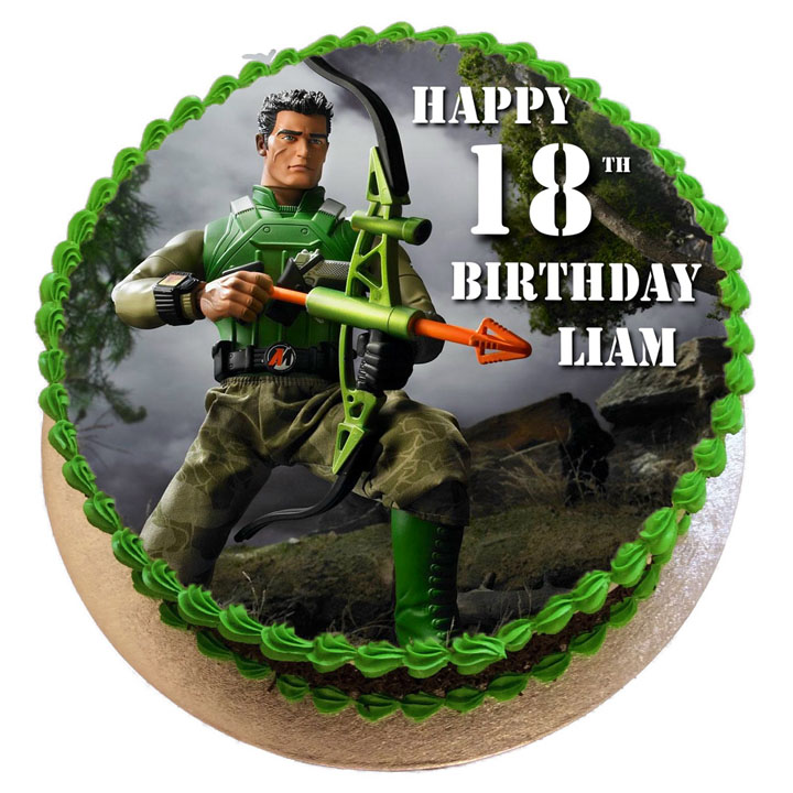 Pleasant Action Man Birthday Cake Flecks Cakes Funny Birthday Cards Online Inifofree Goldxyz