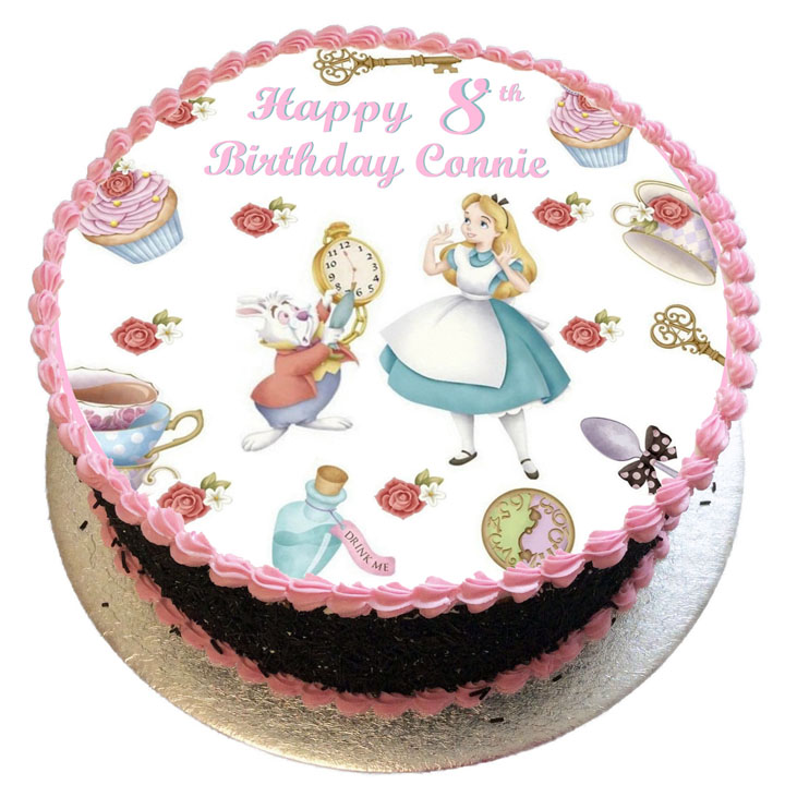 Strange Alice In Wonderland Birthday Cake Flecks Cakes Personalised Birthday Cards Cominlily Jamesorg